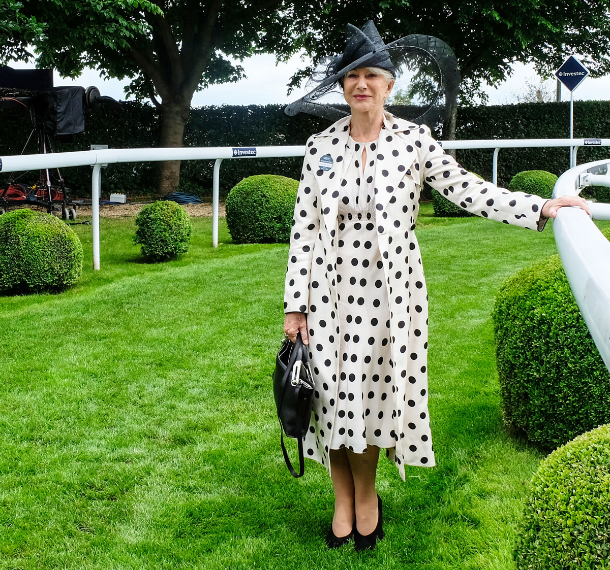Rachel Groom Photography Helen Mirren Derby Day Epsom Racecourse